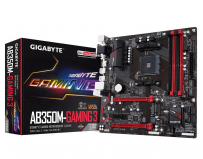 Placa de baza Gigabyte Socket AM4, AB350M-GAMING 3, AMD B350, 4*DDR4 3200(O.C.)/2933(O.C.)/2667*/2400/2133